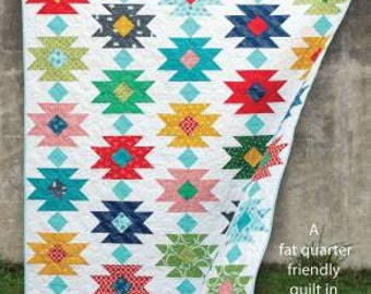 Tahoe quilt pattern by Cluck Cluck Sew,  includes 5 sizes, Fat Quarter friendly quilt pattern, modern geometric quilt pattern