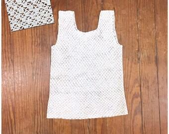 69b36b9fd192c ANTIQUE crochet top Knit Top 1900s EDWARDIAN camisole Eyelet white Neutral Tank  Top hand knit ooak Boho Top Tank Rustic Feminine sleeveless