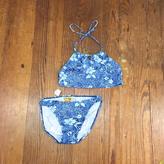 90s deadstock FLORAL Bikini High Waist Bikini Bott