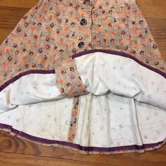 60s CORDUROY Mini Skirt size 27 High Waist swing … - image 8