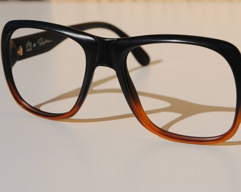 88b773652e men s exceptional eyeglasses frames vintage SAPHIRA OPTYL 54-19 135 thick  square black brown Germany New