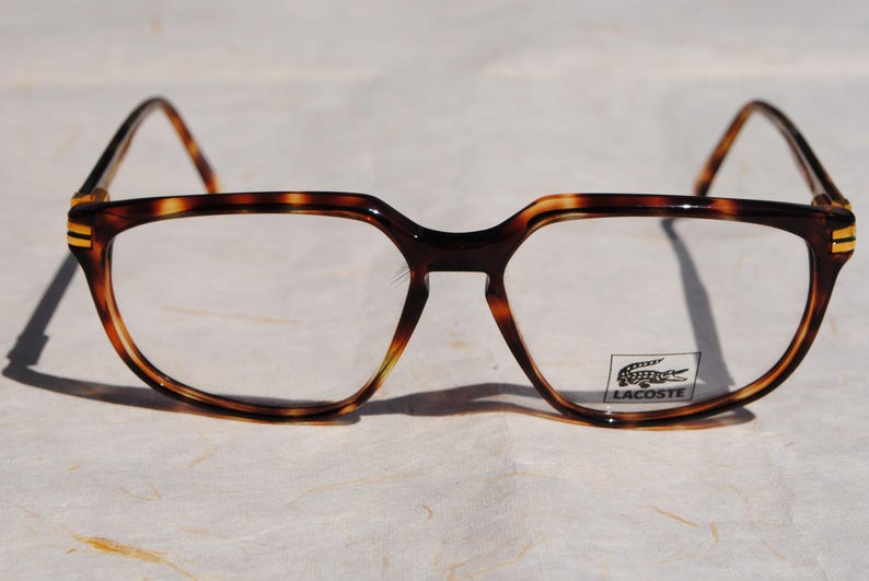 15fbcc776062 Vintage lunettes LACOSTE 724 FL COL.800 58-16 145 mm tortoise