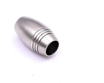 Edelstahl Magnetverschluss Zylinder gebürstet 20x10mm Mengenauswahl ID 8mm