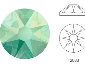 10x Swarovski ® Crystals Flatback CRYSTAL AB 2088 nohf ss34 7 mm Xirius strass