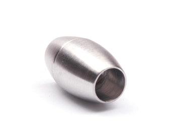 für Leder /& Bänder 5x Edelstahl Magnetverschluss gebürstet 16x7,5mm ID 3mm