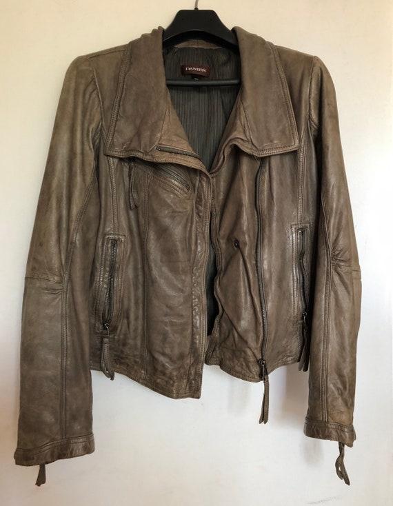 Vintage Danier leather motorcycle jacket, Medium