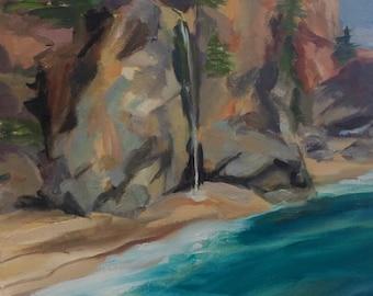 waterfall on Big Sur CA