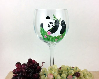 Hand painted glass, wine lover gift, new home gift, Mothers day gift, Unique wine gift, Housewarming gift, wine gift, Best wine gift, gifts