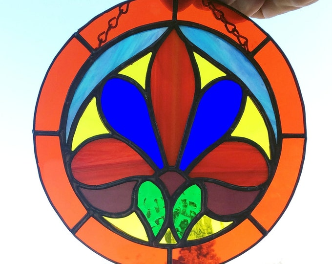 Stained glass, Stained glass art, Glass suncatcher, window decor, window hanging, Wall art, Tiffany Style, Home Decor wall art, Gift idea