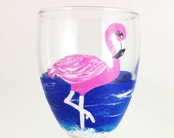 Flamingo Gifts, Best Wine Gifts, pink flamingo, Gift for her, Flamingo party decor, Wine lover gift, flamingo Decor, Wine glass gift, gifts