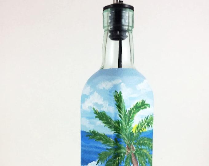 Olive Oil bottle, olive oil dispenser, oil bottle, foodie gift, olive oil, soap dispenser, beach decor, dispenser, housewarming gift, gift