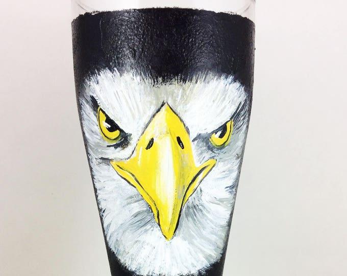 Pilsner Glass, Eagle glasses, Custom Beer glass, Custom pilsner glass, Gifts for men, Gift for him, Beer Lover gift, Eagle Glasses, Gifts