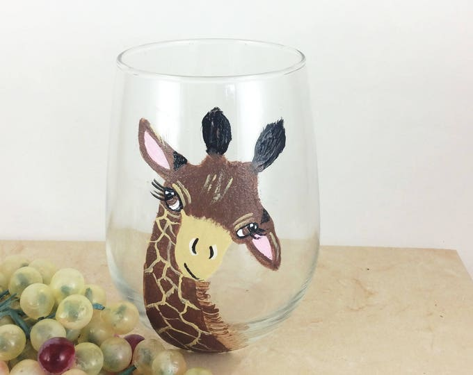 Giraffe Wine Glass, Giraffe Lover Gifts, wine lover gift, Best selling Items, Best wine gift, Giraffee Glasses, drinking glasses,  stemless