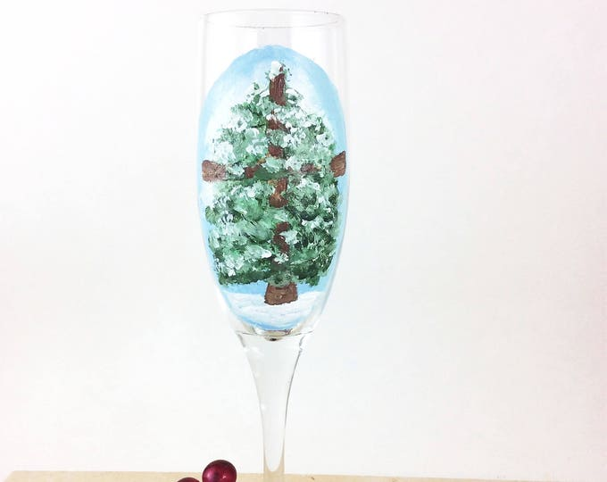 Champagne Glasses, Toasting Flutes, Christmas Tree, champagne campaign, Christmas Decor, Holiday Party, Christmas Party, Christmas Gift