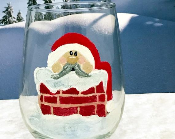 Gnome Stemless Wine Glasses, Christmas Gnomes, Valentine Gnomes, Christmas Drinking glasses, 17oz. Gnome Wine Glasses