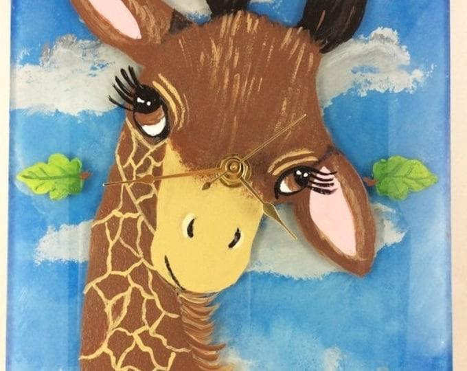Holiday Sale Wall Clock, Giraffe Clock, Home Decor, Nursery Decor, Giraffe lover gift, Giraffe Lover, Giraffe Decor, Kids room decor, Christ