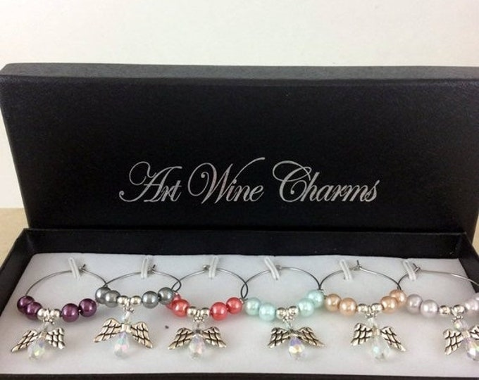 Holiday Sale Wine Glass Charms, Wine Lover Gift, Wine Charms, Wine Gift, Birthday Gift, Party Favors, Housewarming gifts, Birthday gifts, ho
