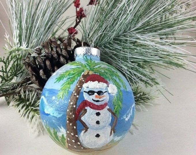 Holiday Sale Christmas ornament, painted ornament, glass ornament, Tree ornament, snowman ornament, custom ornament, Holiday ornament, home