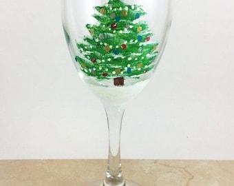 Holiday Sale Christmas Wine Glass, Holiday Wine Glasses, Painted Wine Glasses, Christmas Decor, Holiday Party, Christmas Party, Christmas Gi