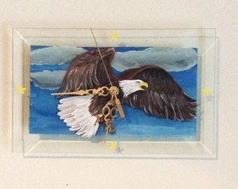 Holiday Sale Wall Clock, Eagle Clock, Home Decor, Bald Eagle clock, Eagle lover gift, Eagle Lover, Eagle Decor, Gift for him, Christmas Gift