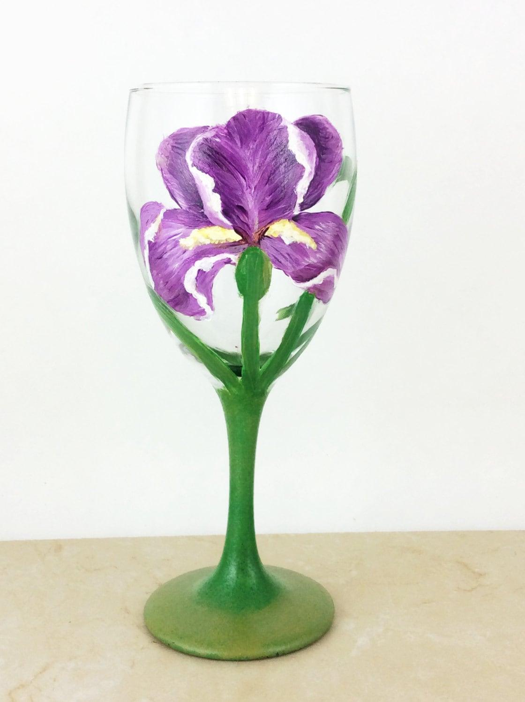 flower wine glasses painted wine glasses wine glasses gift for