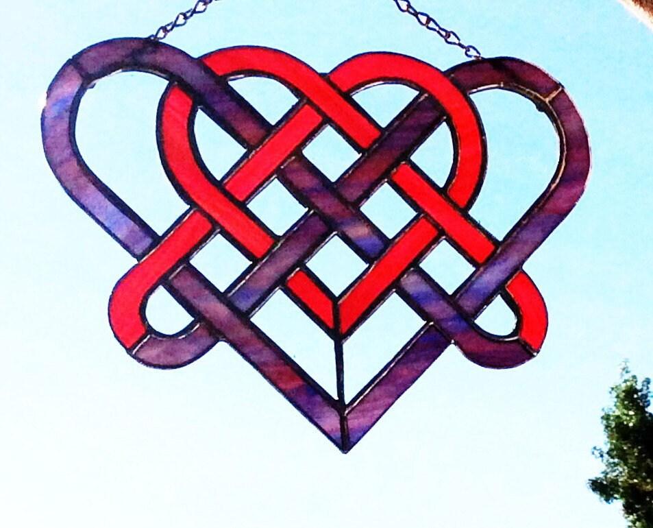 6b736ec8f43f Stained Glass Celtic Heart sun-catcher - 11