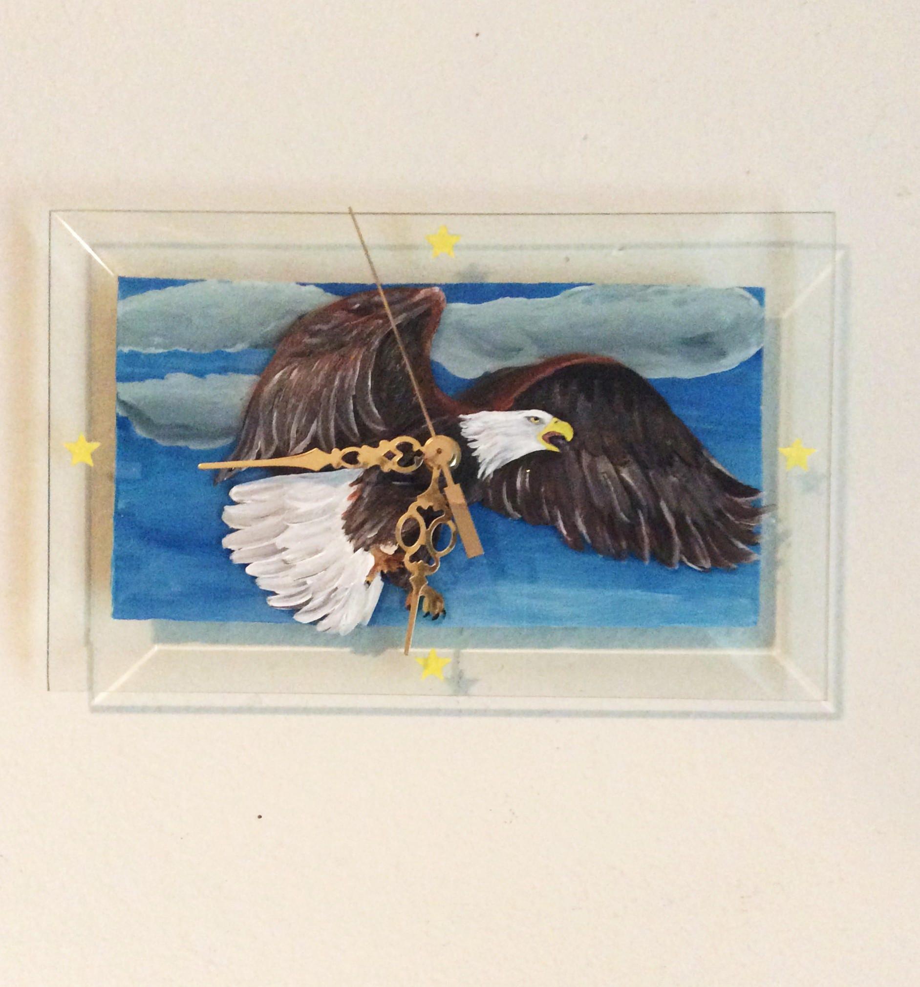 Wall Clock, Eagle Clock, Home Decor, Bald Eagle clock, Eagle lover ...