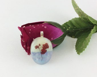 Rose Pendant, Flower Pendants, Necklaces, Fused Glass Pendants, Red Rose pendant, jewlry, Mothers day gift, gift for her, pendant necklace