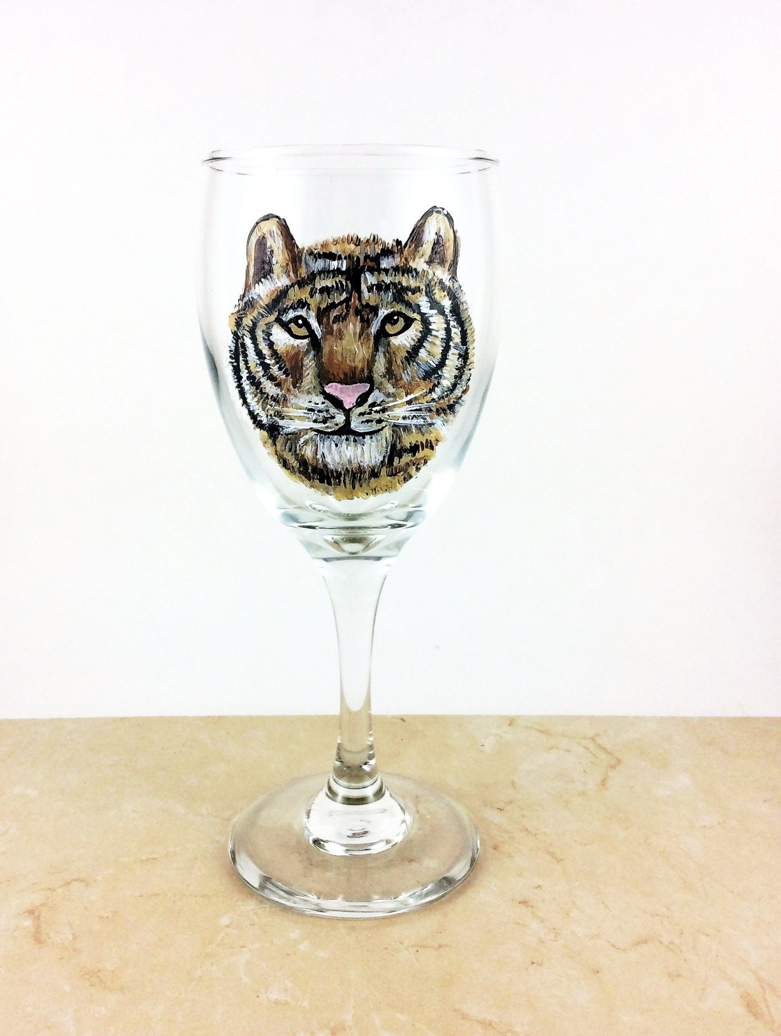 Wine Lover Gift Glasses Painted Basket Lovers