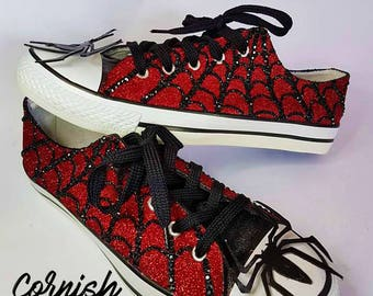 9655d44889d973 Spiderman Inspired Converse style Shoes