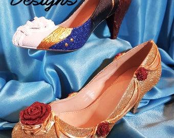 Bespoke Custom made Beauty and the Beast Heel's