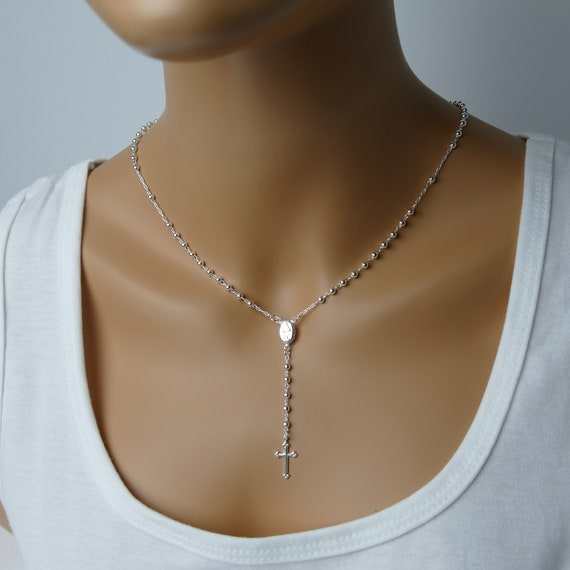 Delicate Silver Rosary // Sterling Rosary // First Communion // Confirmation // Wedding // Great Gift For Her // Top Quality