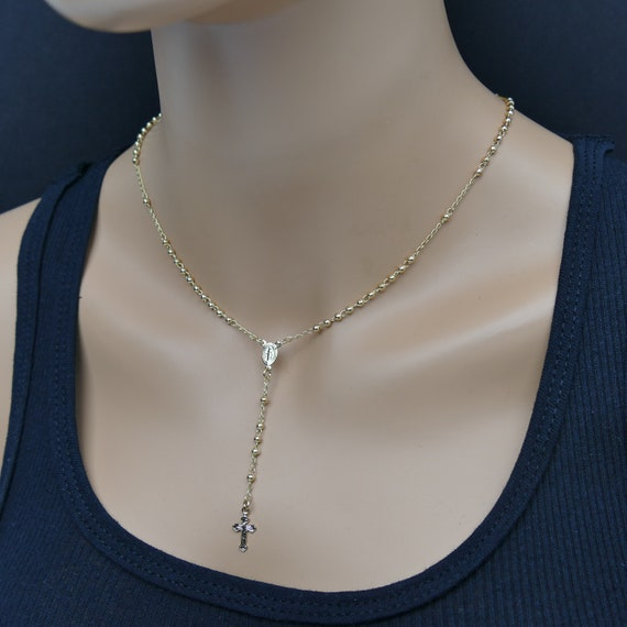 Gold Rosary Rosary Rosary Necklace Catholic Rosary Gold Rosary necklace gold necklace cross necklace rosary chain religious necklace gold