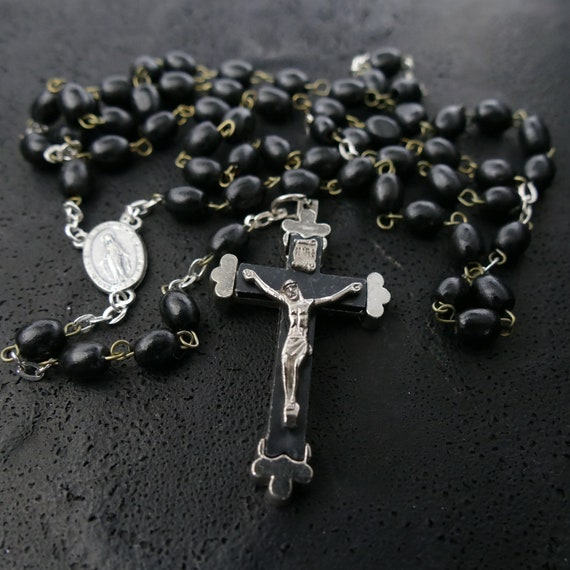 Rosary Necklace Mens Rosary Necklace mens necklace rosary mens rosary catholic rosary cross necklace necklace mens cross necklace men rosary