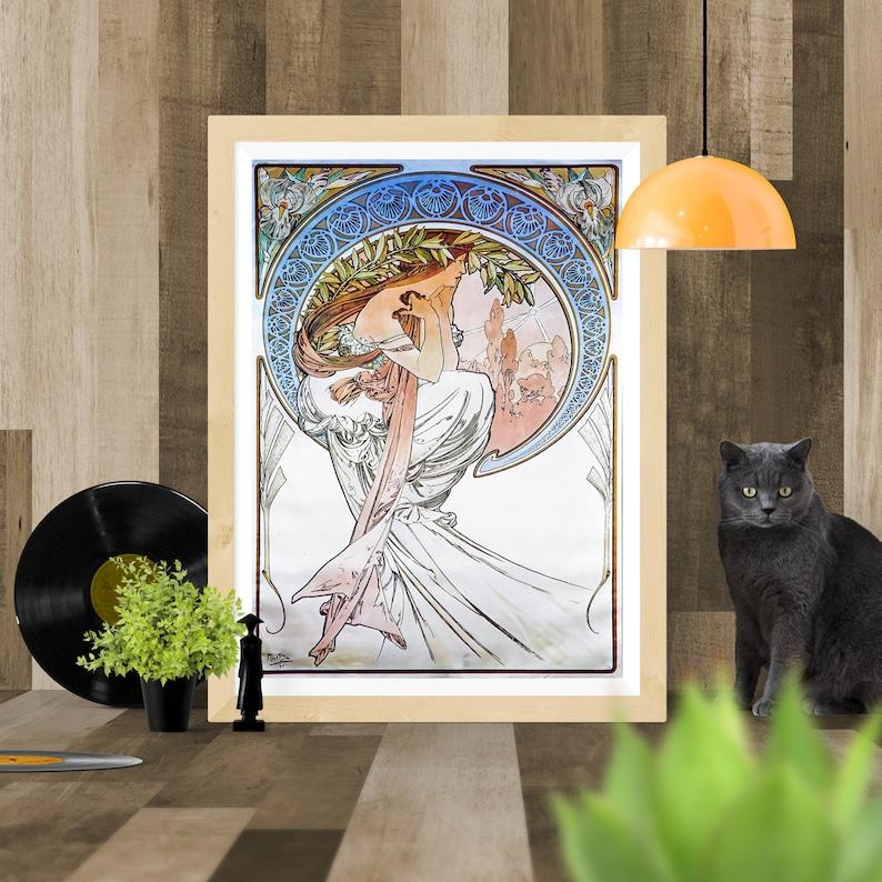 Alphonse Mucha Art Nouveau Vintage Poster Picture Print Wall Art UK A4 A3 A2 A1