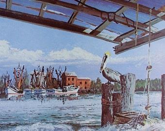 VINTAGE FLORIDA, Art Print, Fort Myers, Ft Myers, Beaches, Coastal Wall Print, Wall Art, Wall Decor, Ocean Coastal Art, Nautical Print Decor