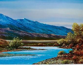 CARSON RIVER, Western Landscape, Art Print, Mountain Art, Mountain Print, Wall Art, Lake Tahoe, Nevada, Home Decor, River Art, Western Art