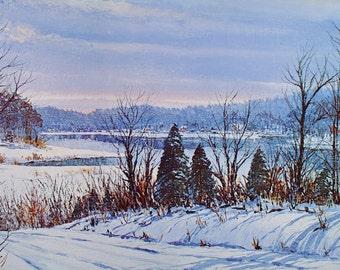 PANORAMIC, WINTER LANDSCAPE, Art Print, Snow Landscape, Wall Art, Home Decor, Wall Decor, Poster, Winter Decor, Art, Harold Hancock, Prints