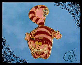 Alice in Wonderland metal and enamel Pin Badge Pins With Cheshire Cat.