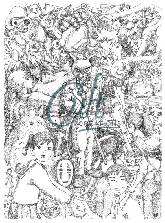 Studio Ghibli Artworks Womens Vest
