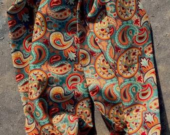 "Morocco Paisley-Silk Infinity Scarf 6.5"" x 35"" back by popular demand"