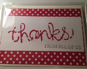 Thanks From All of Us Greeting Card