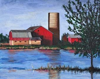 Red Barn Giclee Print