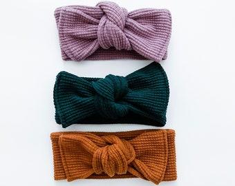 Organic hand tied headband
