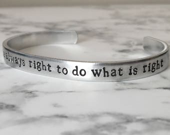 Martin Luther King Jr / Black Lives Matter / Social Justice / The Time Is Always Right To Do What Is Right / Activist Gift / Gift for Her