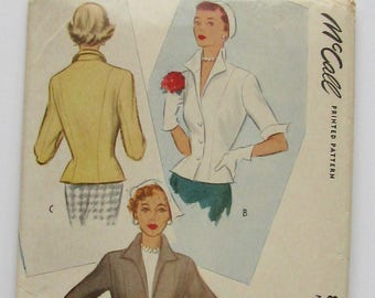 McCall 8101 Fitted Jacket Pattern, 1950, Size 14 Bust 32