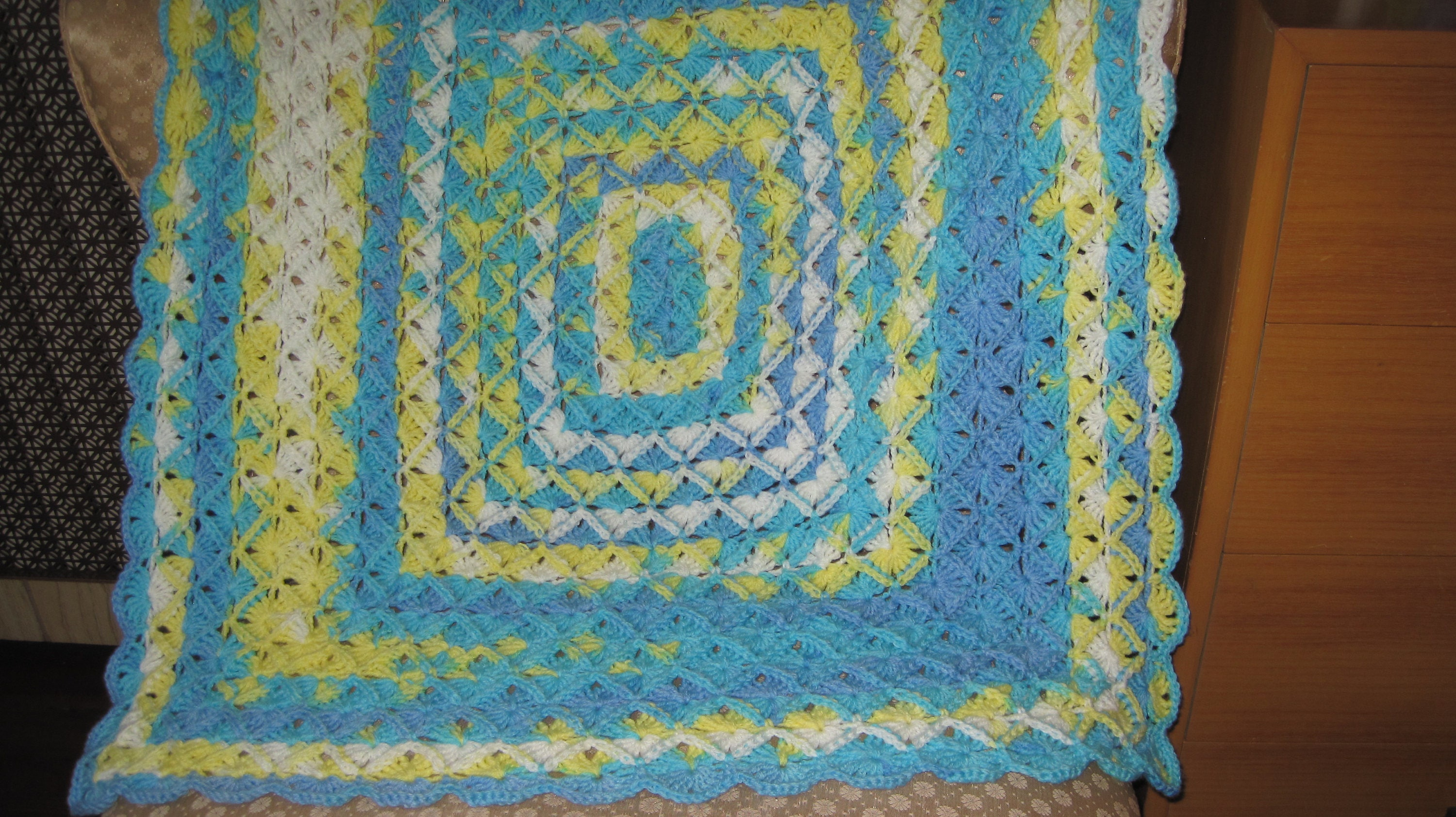 Hand Crocheted Bavarian Stitch Baby Afghan Crochet Colorful Etsy