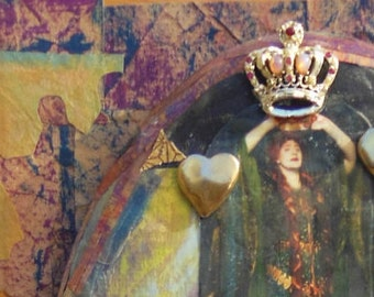 To be a Queen: assemblage piece