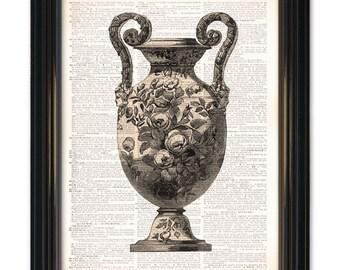 Arte de Diccionario de florero impresión. Una página de diccionario vintage reciclado impresión 8 x 10 pulgadas. Comprar cualquiera de nuestro 3 impresiones get 1 gratis!