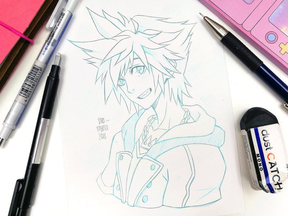Sora Kingdom Hearts Lineart : Wayfinder trio christmas art kingdom hearts amino